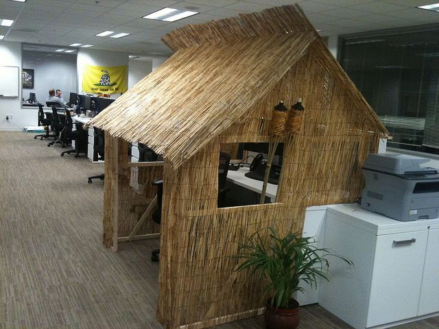 Tiki Hut Cubicle Favorite Places Amp Spaces Cubicle