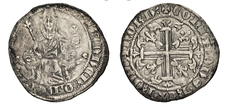 NumisBids: Numismatica Varesi s.a.s. Auction 67, Lot 209 : CHIO LA MAONA (1347-1566) Gigliato, 1347-1373. D/ Regnante...