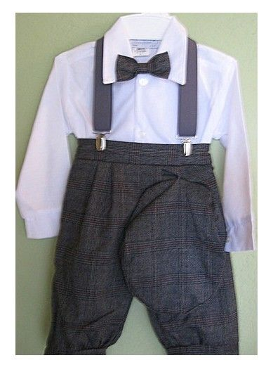 fe2ace7c13c 5 - Piece Gray Plaid Knicker Set with Suspenders at DapperLads ...