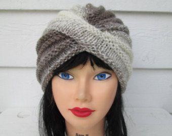 bc4742b3f9152 Items similar to Knit Turban Turquoise Turban fashion turban knit hat  womens winter hats twisted turban chunky hats crochet turban hats knit hats  turbans on ...