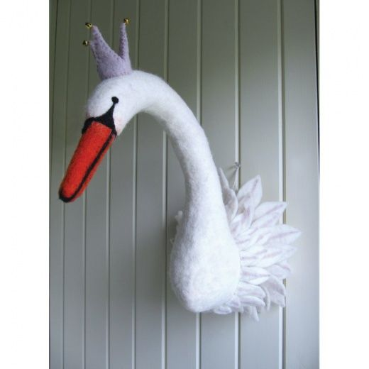 Odette Swan Princess Felt Head Animal Heads Felt Hearts