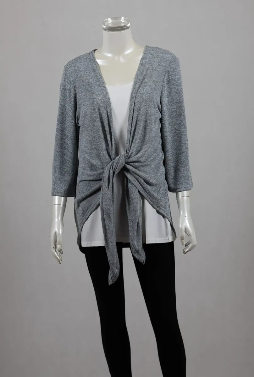 34 Sleeve Cardigan Autumn Fashion Layering Silver Cardie