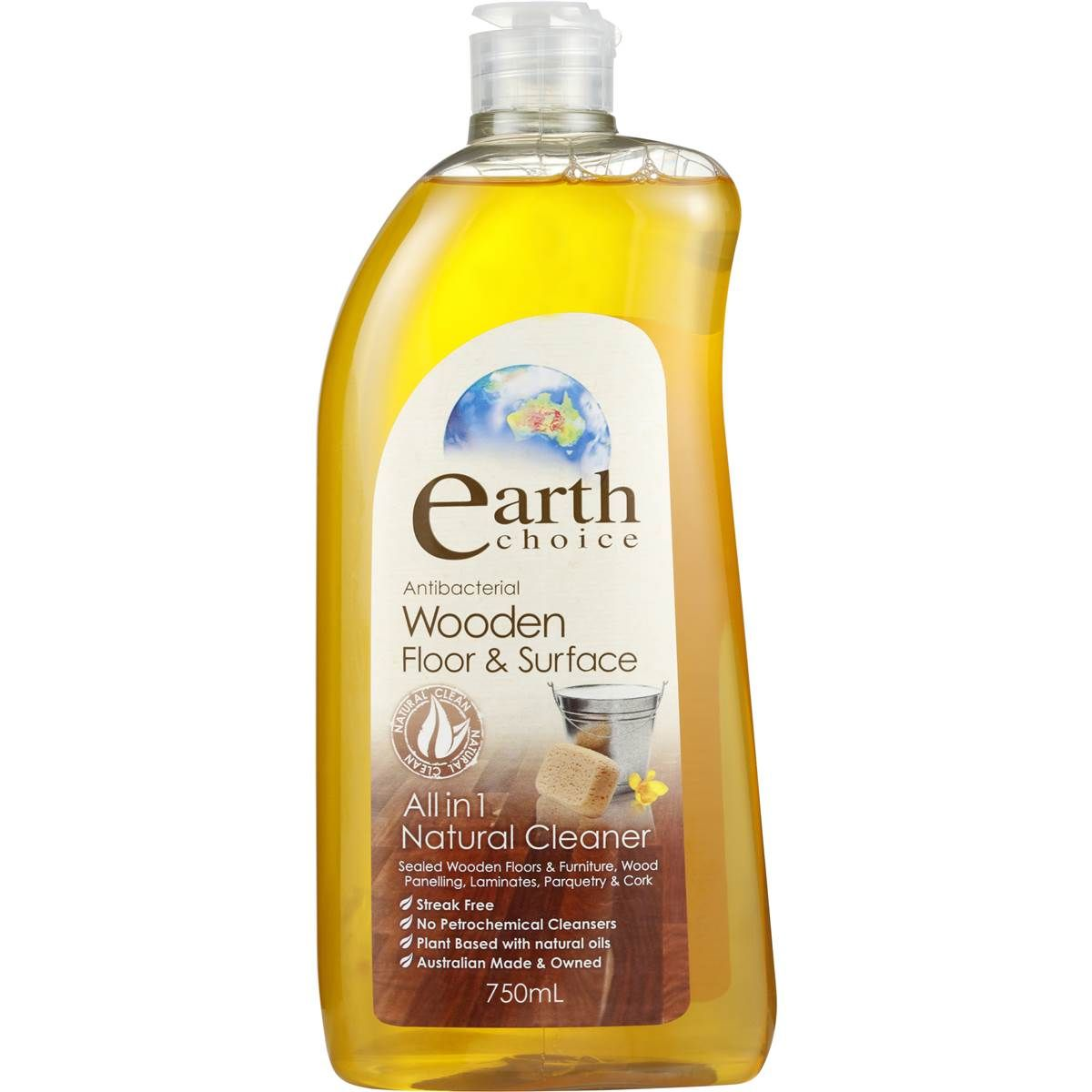 Earth Choice Floor Cleaner Wooden Surface 750ml | Laundry | Choices