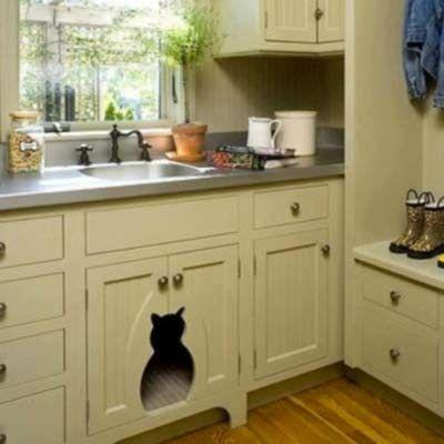 Cacher La Litière Dans La Cuisine Et Ajouter Une Touche De Mignon - Cache meuble cuisine