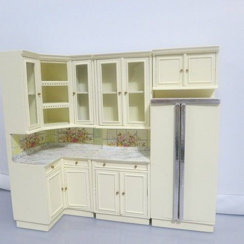Bespaq dollhouse miniature kitchen cabinet furniture set for Kitchen cabinets sets
