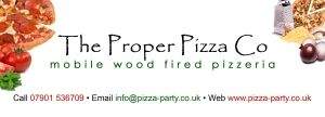 The Proper Pizza Co - http://www.norfolkbrides.co.uk/httpwwwpizza-partycouk-358.html  Mobile Wood Fired Pizza catering for any type of event, covering East Anglia, the Midlands, the Home Counties, London, and the South East. (We will travel further on request)    Proper Pizza Co specialises in creating authentic Neapolitan style pizza, cooked the proper way in our wood fired ovens and served almost anywhere.