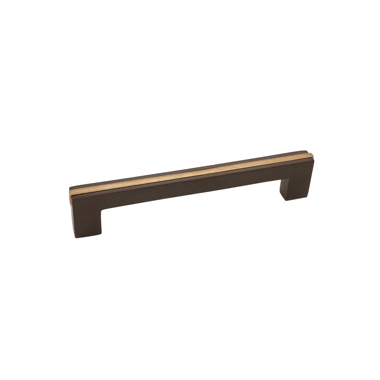 Angle Two Tone Banded 3 Kitchen Cabinet Handle Espresso Champagne Finish Contemporary Style Kitchen Kitchen Cabinet Styles Contemporary Gates