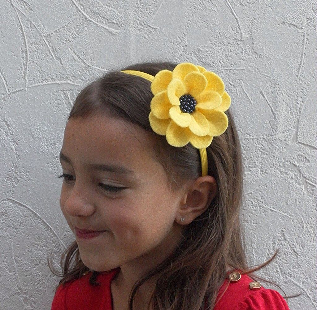 This Yellow Flower Headband Is Pretty And Perfect For Any Accasion