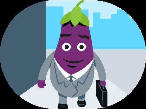 Eggplant Life Emoji Icon