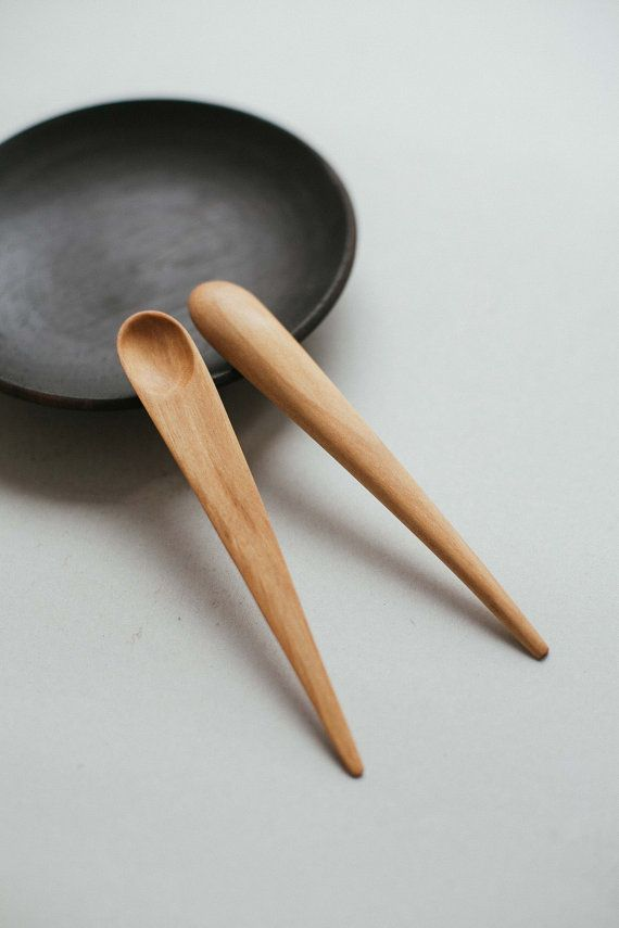 hand carved wooden small spoon | japanese serving spoon | little wooden spoon | mini spoon | natural utensil | jam spoon | wabi sabi spoon