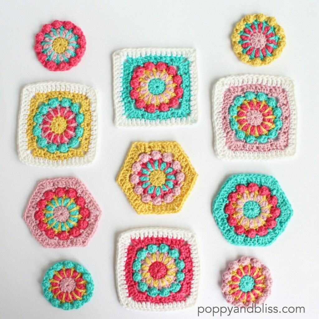 Pin von Joy Ryan auf mycrochet circle-in-square grannies 2 | Pinterest