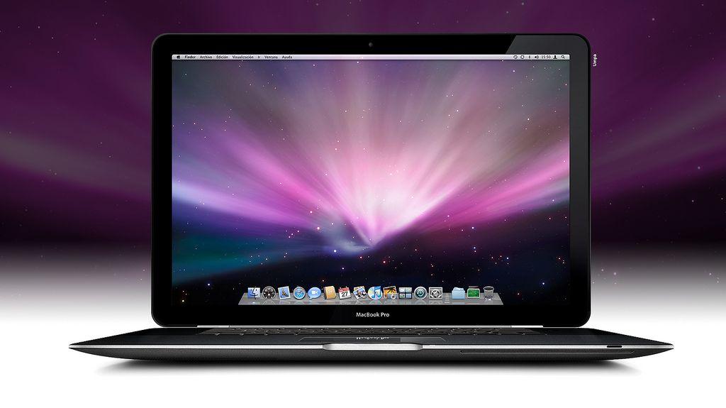 Macbook Pro Late 2008 Black Concept Mockup