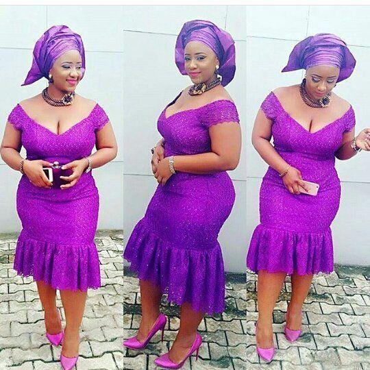 Short Lace Aso Ebi Dress Styles For Beautiful Nigerian Las Dezango Fashion Zone