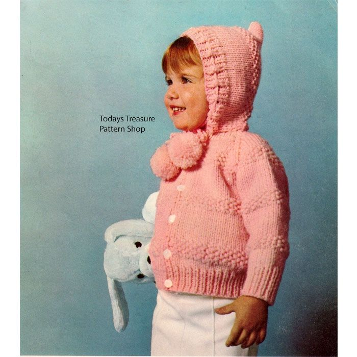 Toddler Knitted Cardigan Pattern, Beginner Level | Knit cardigan ...