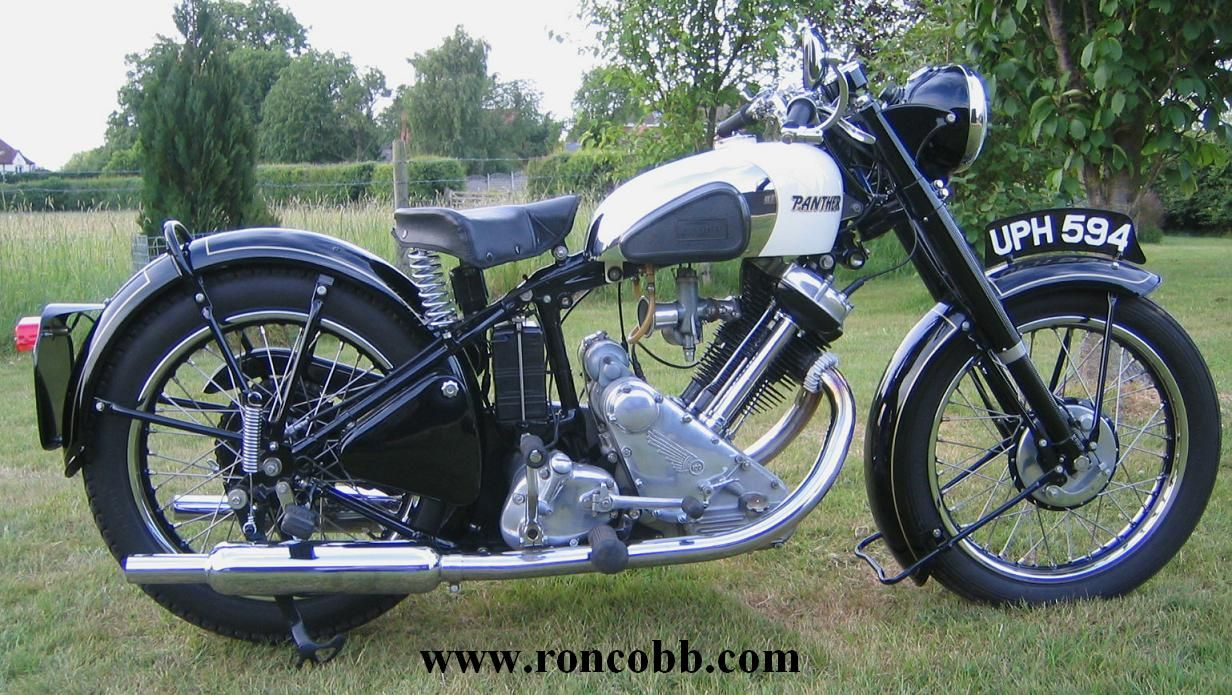 antique motorcycles for sale 1954 panther m100. Black Bedroom Furniture Sets. Home Design Ideas