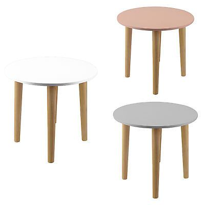 Details zu 3 Farben Beistelltisch Rund Tisch Nachttisch Esstisch