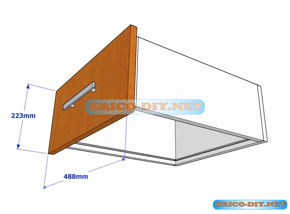 Plano y medidas de cajones de melamina para una comoda for Planos de muebles en melamina pdf gratis