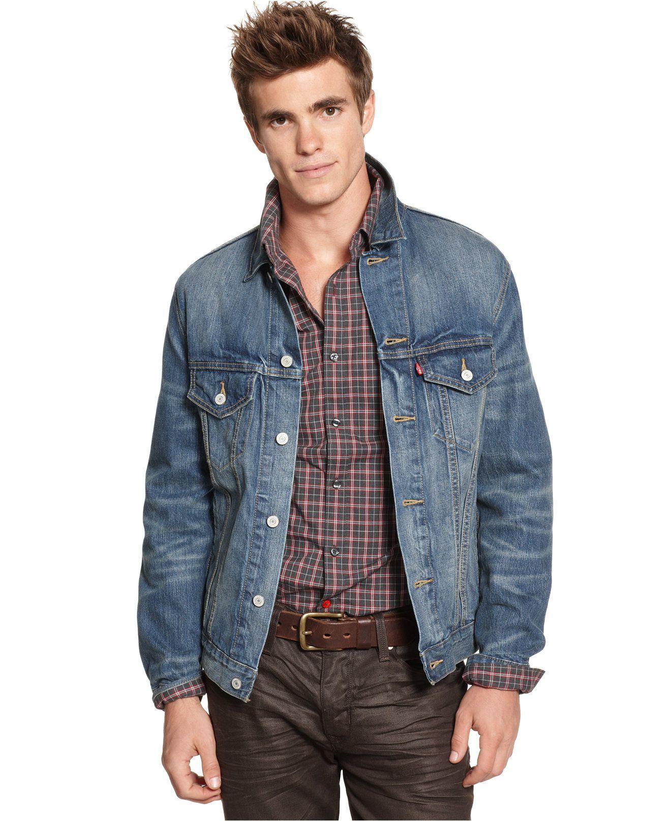 Levi's Dark Summit Trucker Jacket - Coats & Jackets - Men - Macy's ...