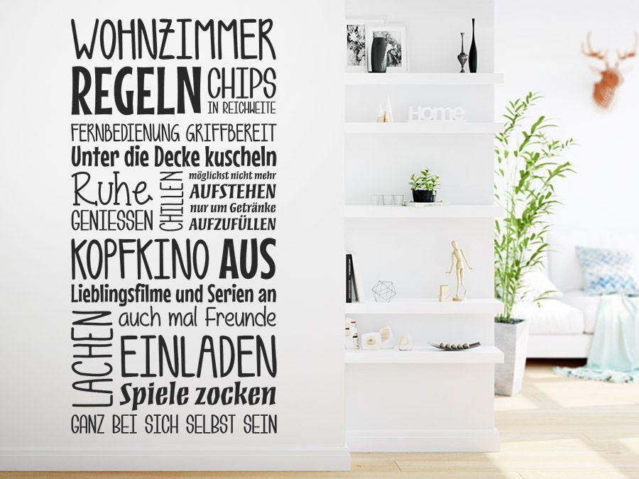 Wohnzimmer Regeln - wandtattoo für wohnzimmer