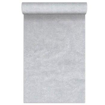 Papier Peint Vinyle Sur Intisse Uni Porto Argent Larg 0 53 M