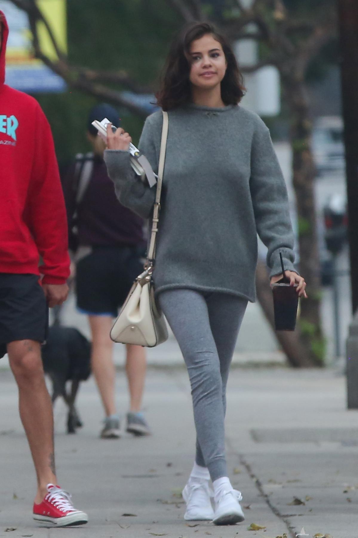 463beb0ab3e Selena Gomez wearing Coach Selena Grace Bag and Puma Tsugi Shinsei Sneakers