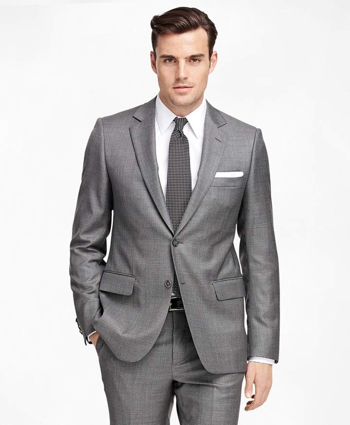 c765bb5dd7b4 Brooks Brothers Fitzgerald Fit Saxxon Wool Sharkskin 1818 Suit ...