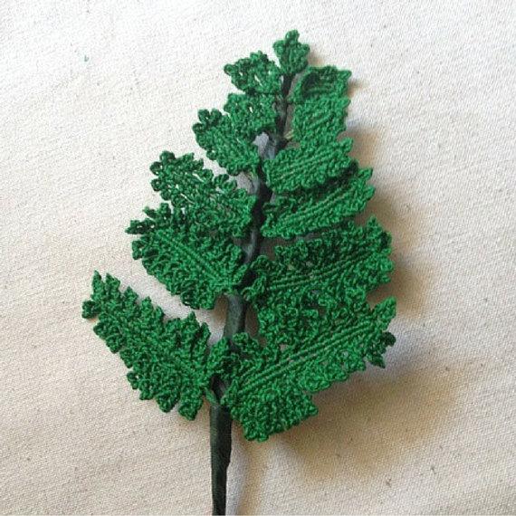 Crochet Fern Pattern Fern Pattern Ferns por FCFCrochetFlowers