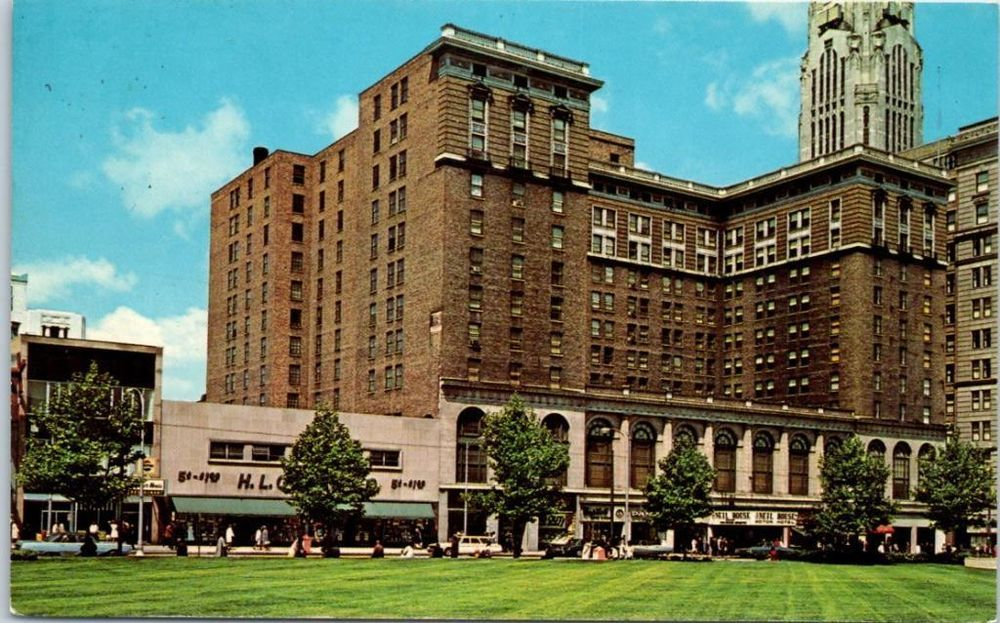 Columbus Ohio Postcard The Neil House Motor Hotel Dexter Chrome