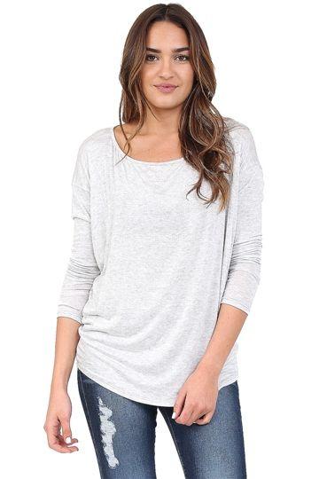Grey V-Neck Cami at Blush Boutique Miami - ShopBlush.com