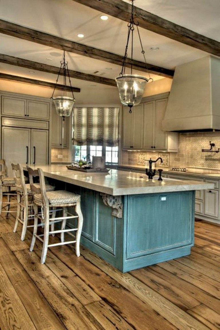23 Stunning Rustic Kitchen Island Ideas Farmhouse Kitchen Design Country Kitchen Designs Country Style Kitchen