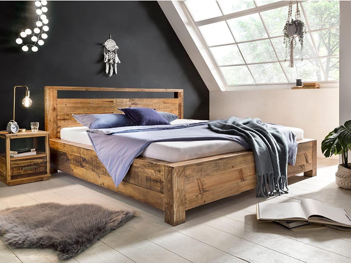 Woodkings Bett 180x200 Havelock Doppelbett Recycelte Pinie