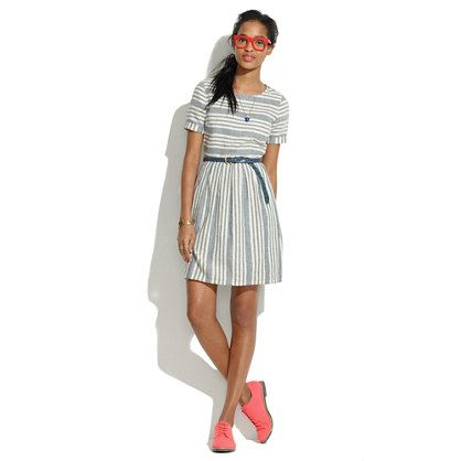 Madewell Multi-Directional Striped Dress.