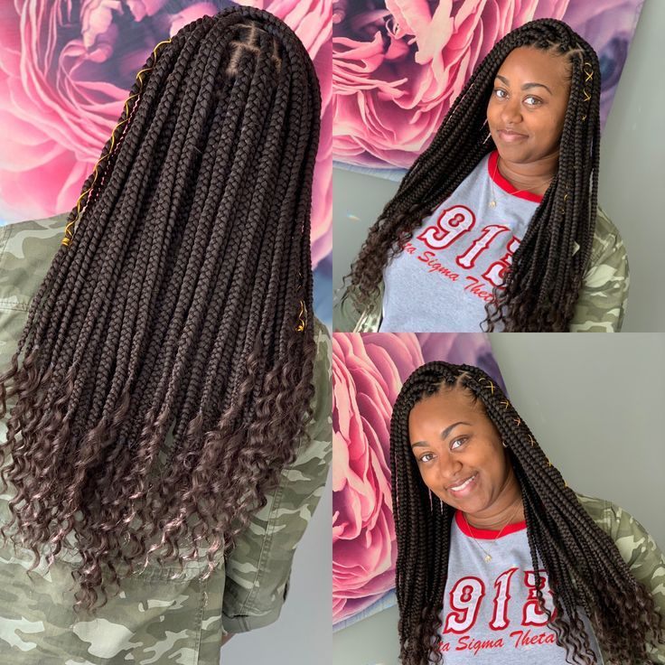 Jamaican Hairstyles Gallery: Braids With Curls, Girls