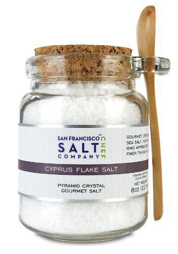 Chef's Jar - Cyprus Flake Salt - http://mygourmetgifts.com/chefs-jar-cyprus-flake-salt/