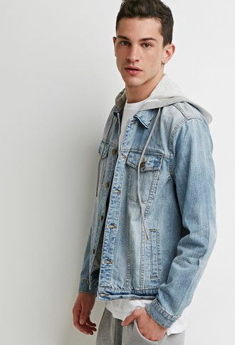 51ea285e60 Hooded Denim Jacket | 21 MEN | #forever21men | forever 21 | men ...