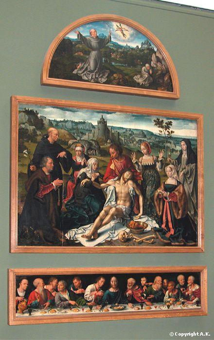 Joos Van Cleve Pays Bas (Matsys) Retable de la Déploration du Christ