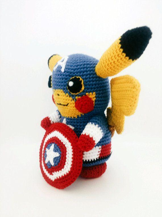Captain America Amigurumi Puppe Rächer von Crazyamigurumi auf Etsy ... | 760x570