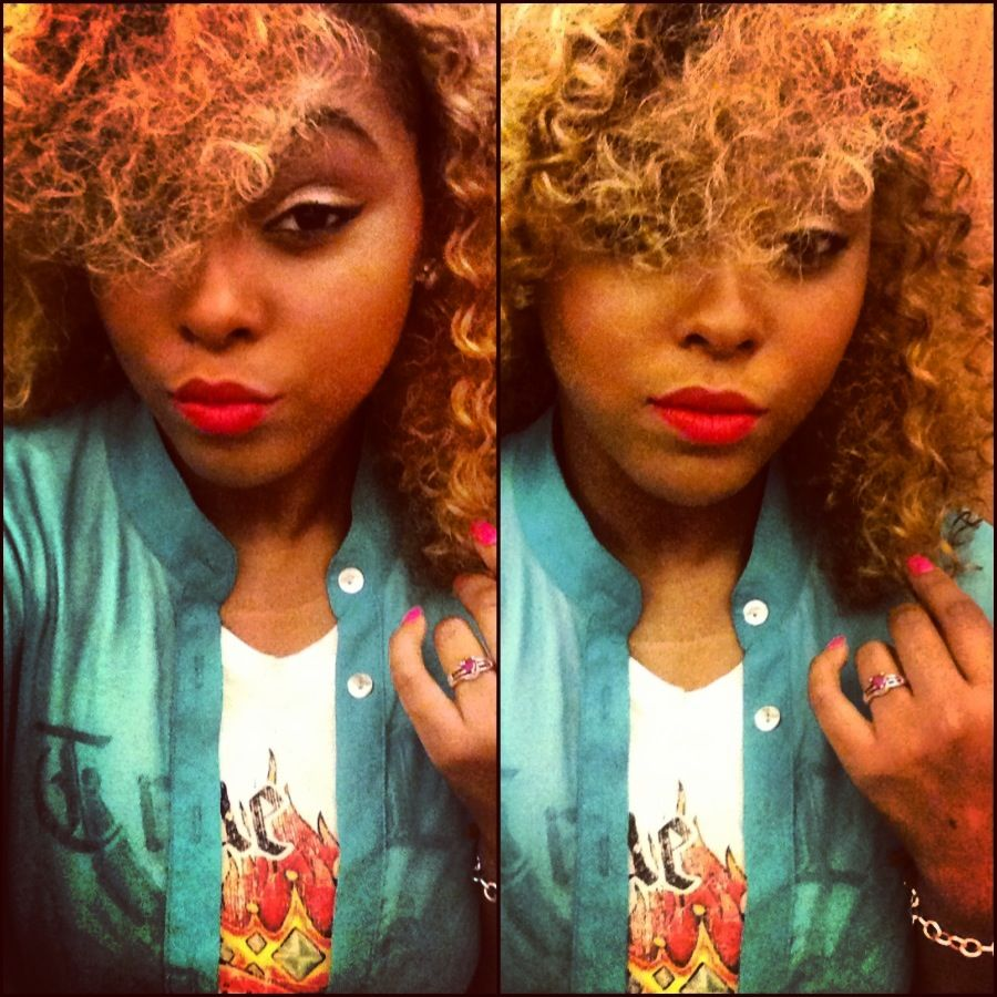 Mac makeup riri whoo fashion blonde hair love it !
