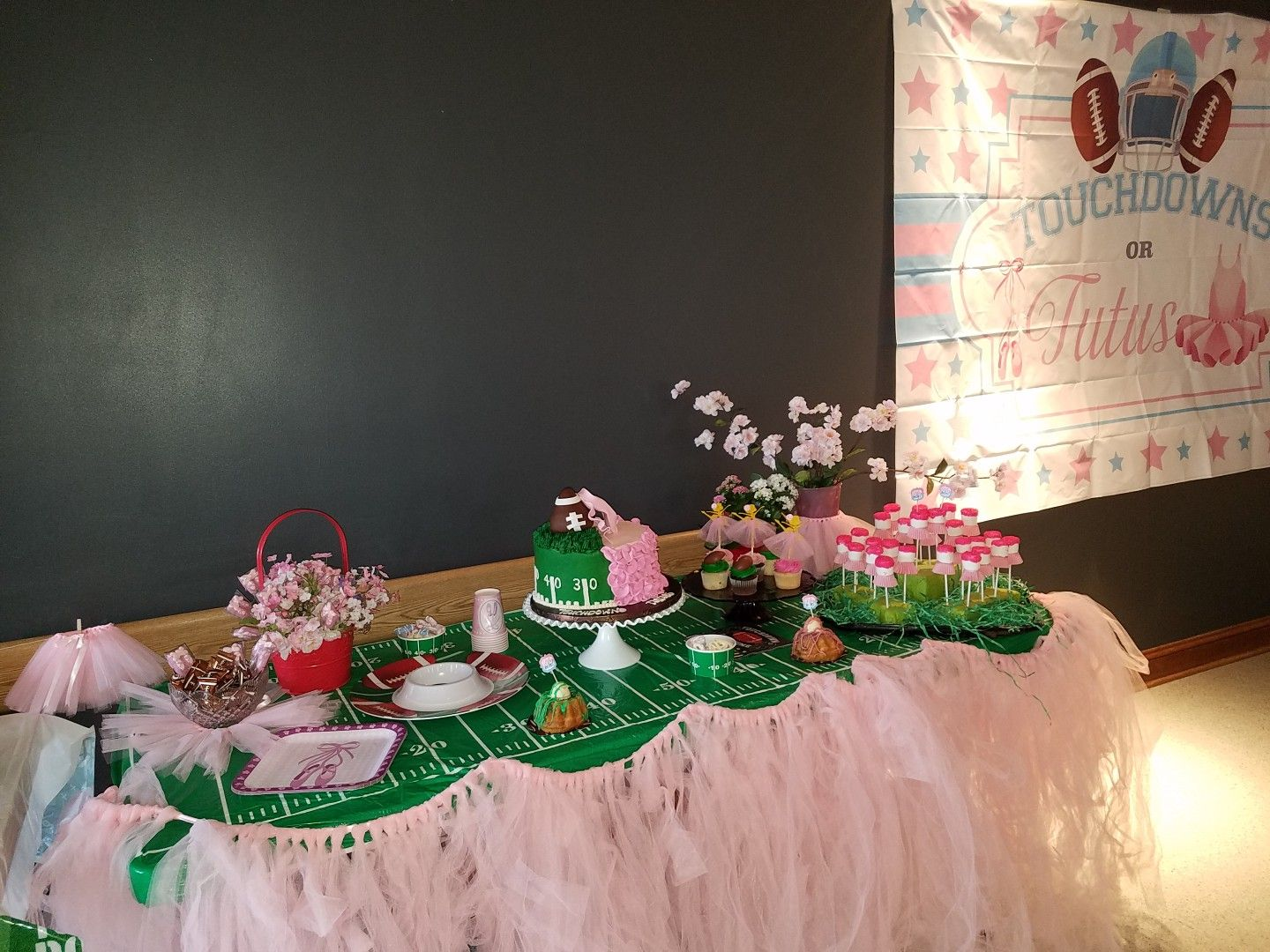 Beautiful Baby Gender Reveal Touchdowns Or Tutus Tutus Gender Reveal Gender Reveal Party Gender Reveal Decorations