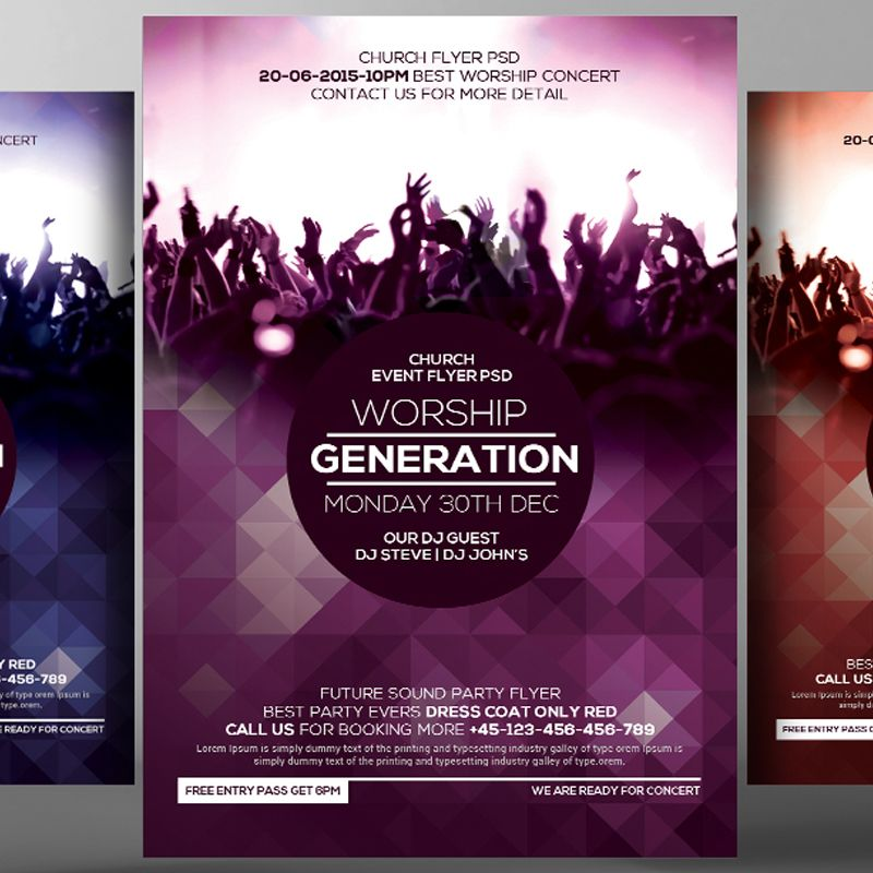 Free Church Concert Psd Flyer Templates Free Psd Flyer Templates Psd Flyer Templates Free Psd Flyer