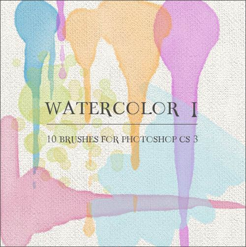how to create watercolor brushes illustrator
