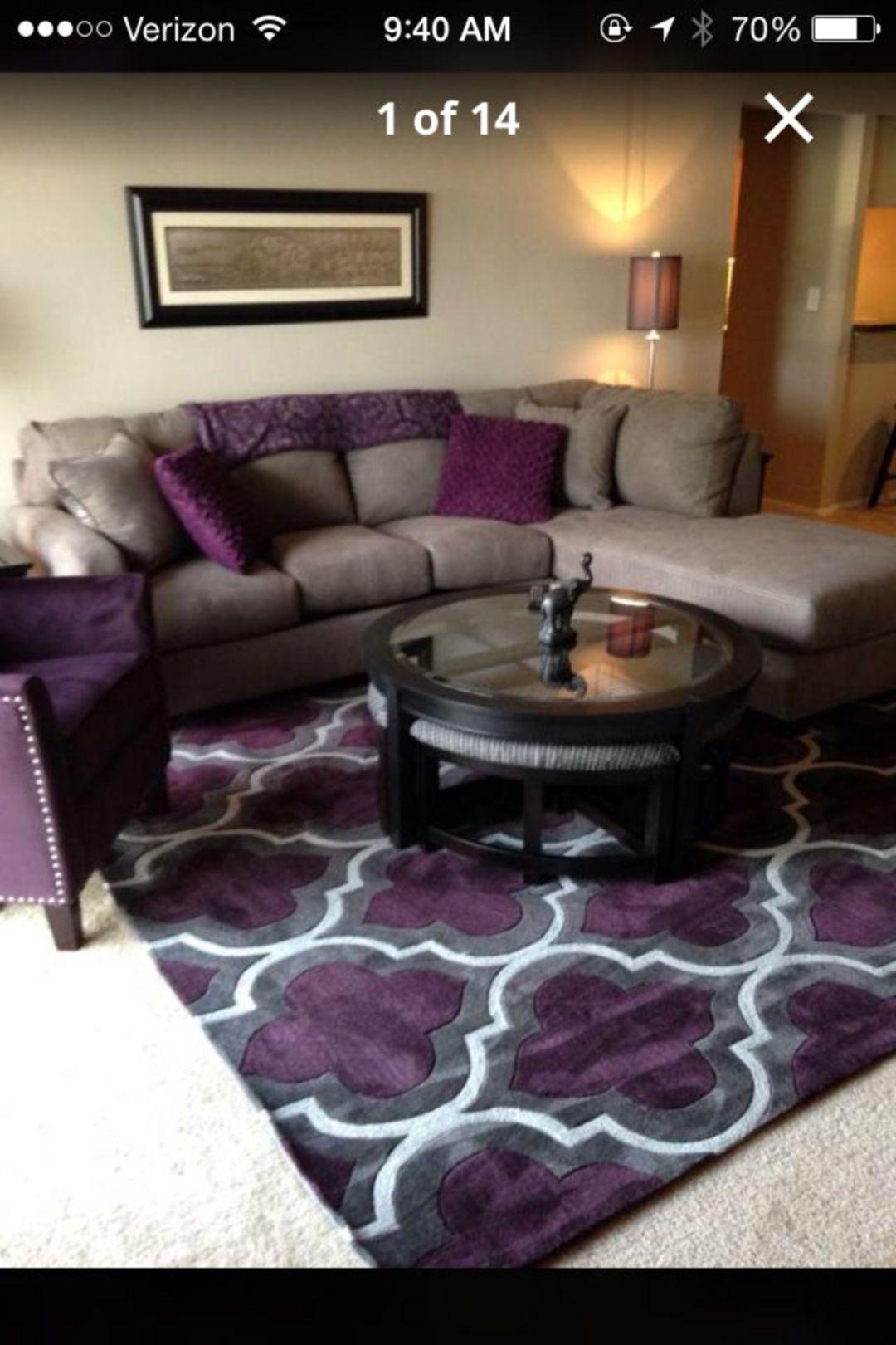 Best 30 Cute Living Room With Purple Color Schemes Design Ideas 400 x 300