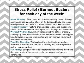 Stress Relief Week For Faculty Kit School Morale