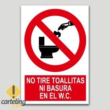 No tire toallitas ni basura en el w c bany en 2019 for Objetivo de bano de basura
