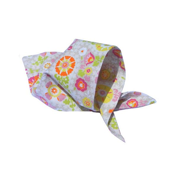 Dog Bandana  Tan Pink and Yellow Paisley by TegansPetBoutique, $4.00 teganspetboutique.com