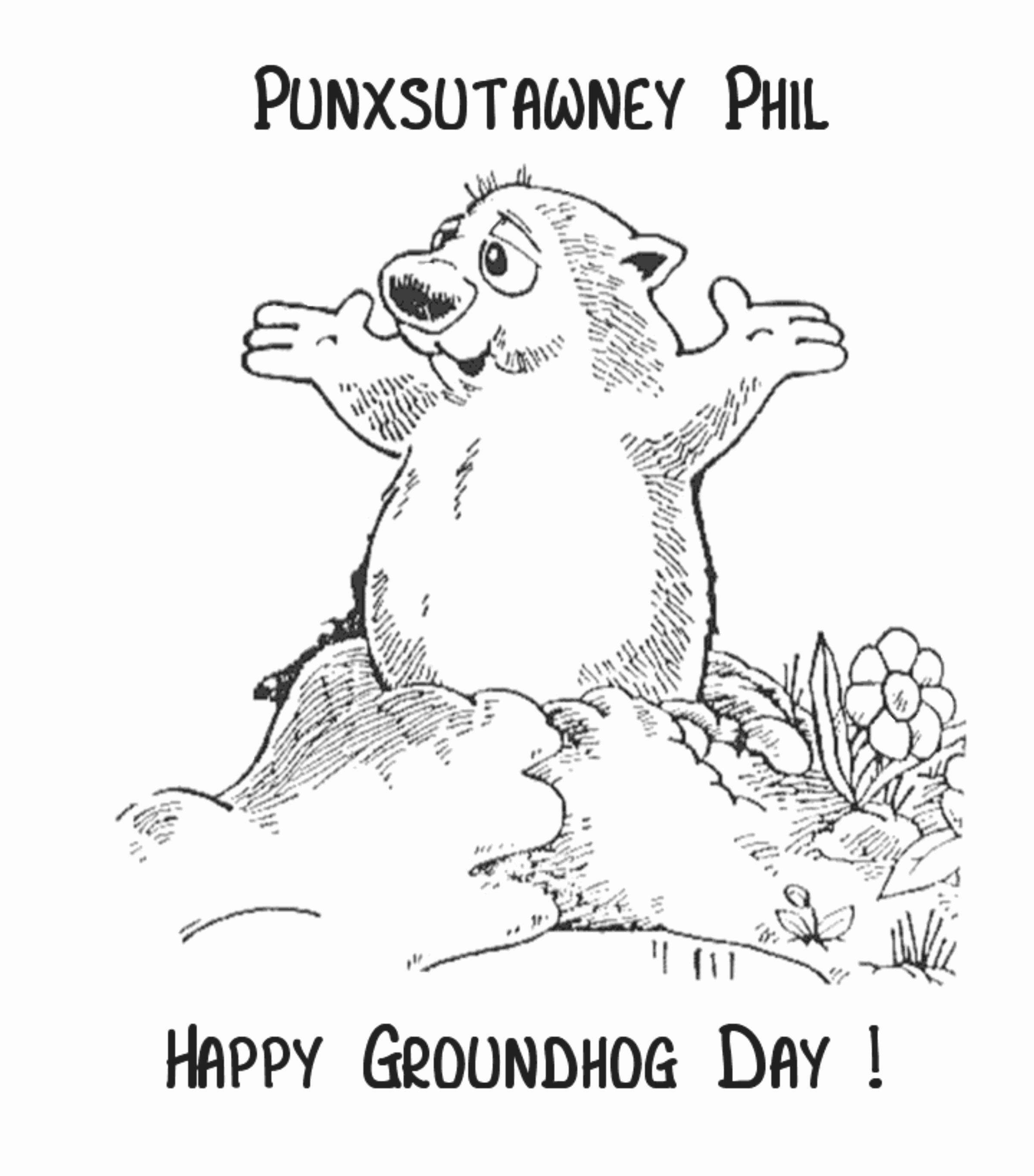 Groundhog Day Coloring Sheet Best Of Coloring Groundhog