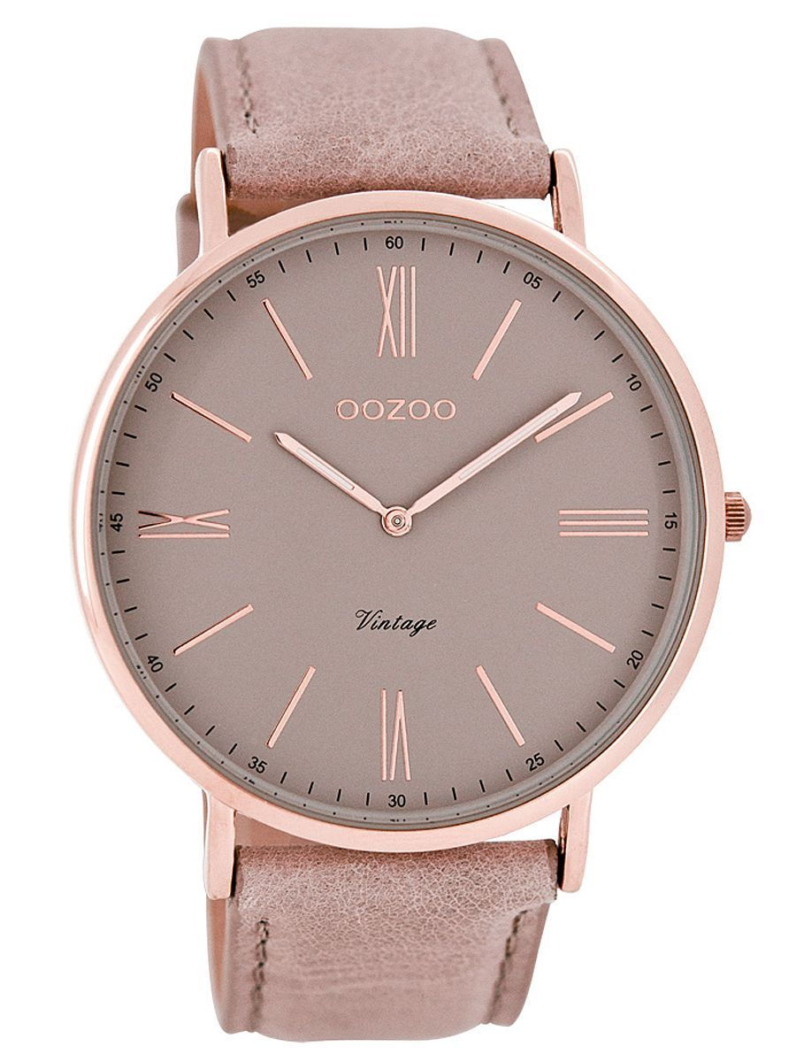 Oozoo C7342 Vintage Damenuhr Altrosa 9879012502489 Modische Armbanduhren Damenuhren Damenuhr
