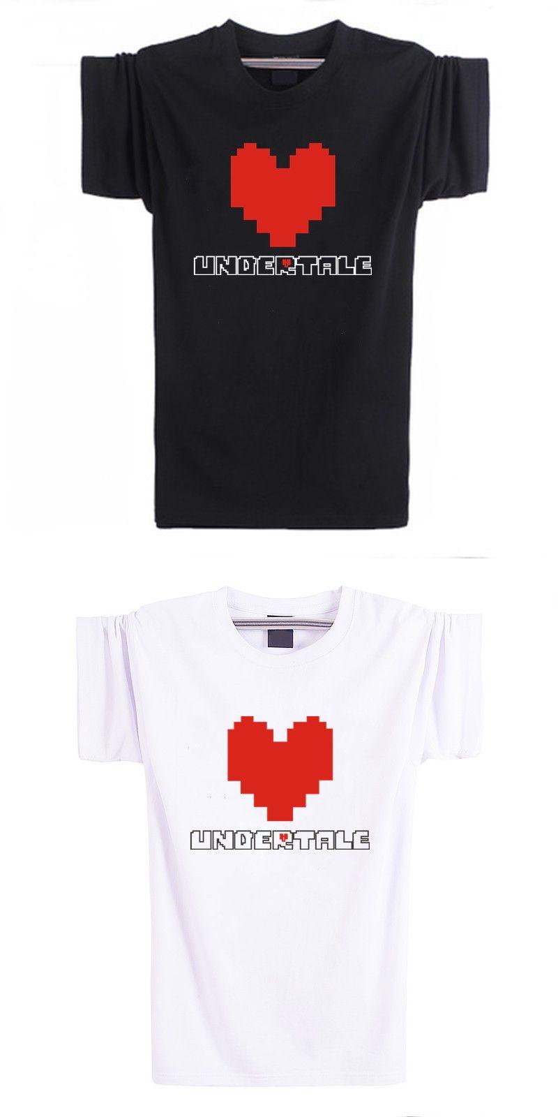 Heart Print Classic Short Sleeve Tee Shirt Men Cotton Streetwear ...