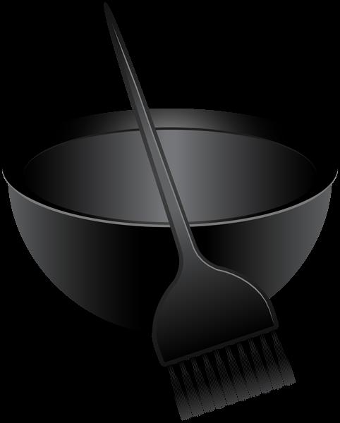 Hair Dye Brush And Mixing Bowl Png Clip Art Image With Images Hair Dye Brush Clip Art Dyed Hair