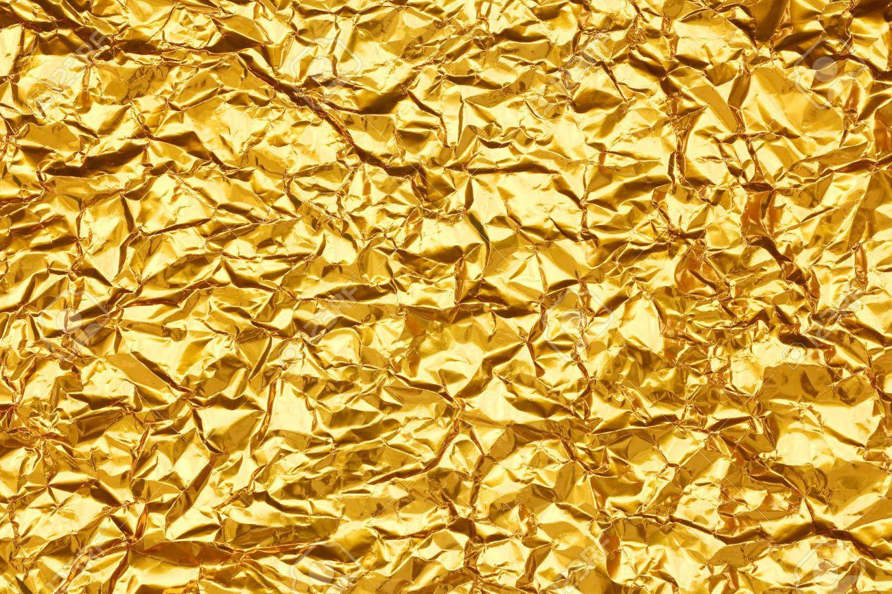 Metallic Gold Foil Background metallic gold fo...
